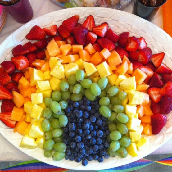 Rainbow Coordinated Fruits: Say Yes To Happy