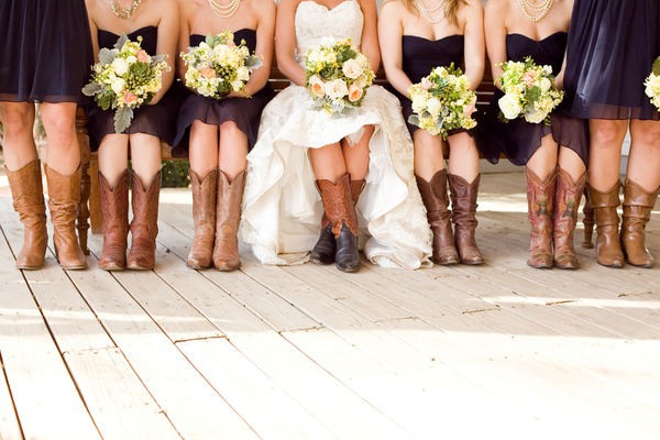 Cowboy boots at weddings say yes to happy for Dresses to wear with boots to a wedding
