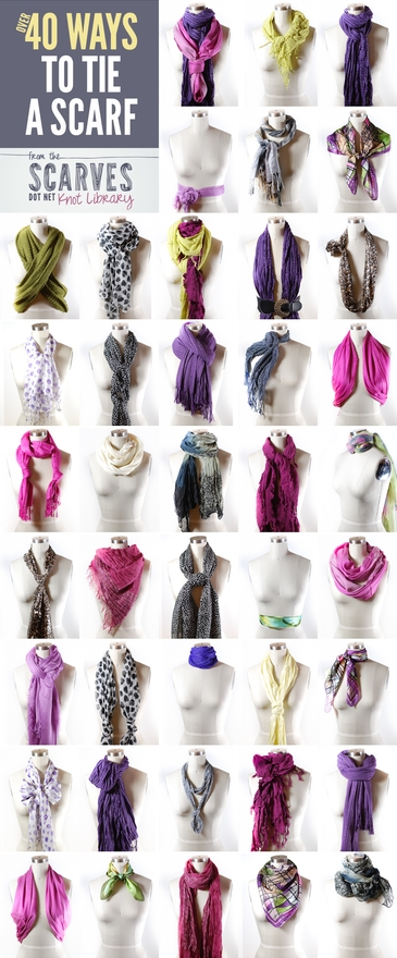 Over 40 Ways to Tie a Scarf – Say Yes to Happy