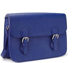faux leather satchel