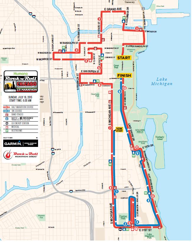 Chicago Rock n Roll Half Marathon July 2015 Say Yes to Happy